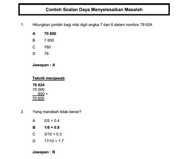 Contoh Soalan Matematik Penolong Pegawai Belia dan Sukan S29