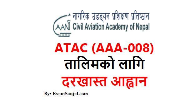 ATC (AAA-008) Training Application Open By Civil Aviation Authority Nepal