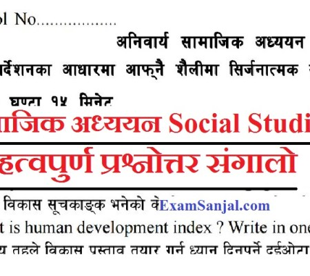 SEE Exam 2076 Important Model Questions Social