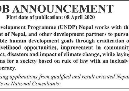 UNDP Job Vacancy Announcement Notice Job Vacancy UN