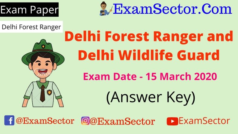 Delhi Forest Ranger 15 March 2020 Exam Paper (Answer Key) ,