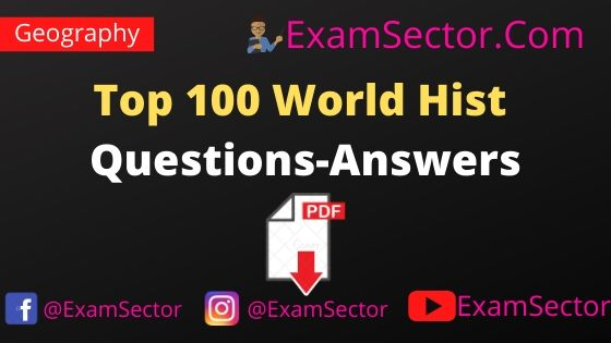 Top 100 World History Questions-Answers PDF in Hindi