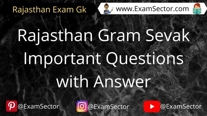 Rajasthan Gram Sevak Important Questions with Answer
