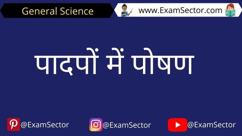 Padpo me poshn notes in hindi