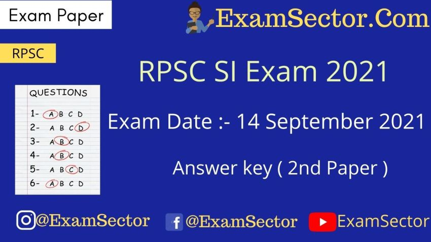 Rajasthan Si Exam Paper 2nd Gk And Gs