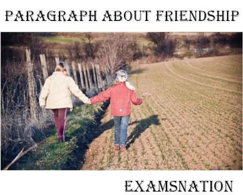 paragraph about friendship