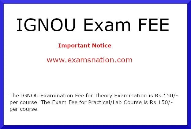 ignou exam fee
