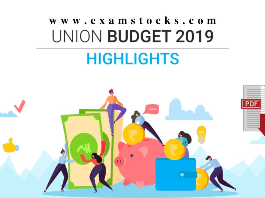 Budget 2019 Important Questions & Highlights PDF