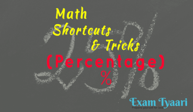 Shortcuts, Tips and Tricks for Percentage based Questions [PDF Download] - Exam Tyaari