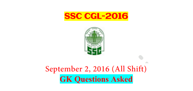 SSC CGL Tier-1 2016 : Questions Asked On 2 September - ALL Shifts [PDF] - Exam Tyaari