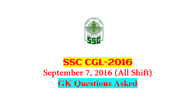 SSC CGL Tier-1 2016 : Questions Asked On 7 September - ALL Shift [PDF]  - Exam Tyaari