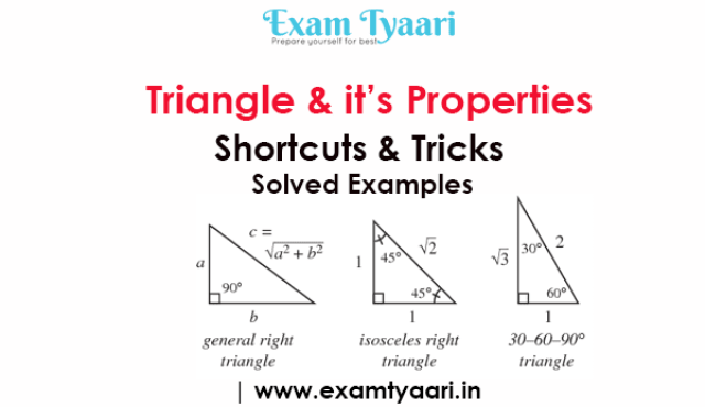 Triangle & Properties Math Formulas and Shortcut Tricks with Solved Examples [PDF] - Exam Tyaari