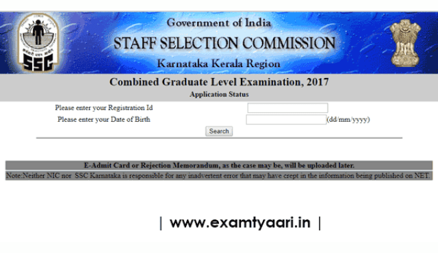 Link Activated to Check Application Status of SSC CGL 2017 [KKR] - Exam Tyaari