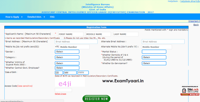 MHA IB ACIO Recruitment 2017 - Link Activated [APPLY NOW] - Exam Tyaari
