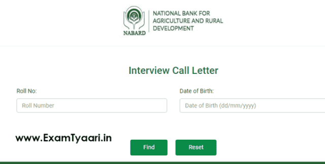 NABARD Grade-B Office Call Letter Out [Interview] - Exam Tyaari