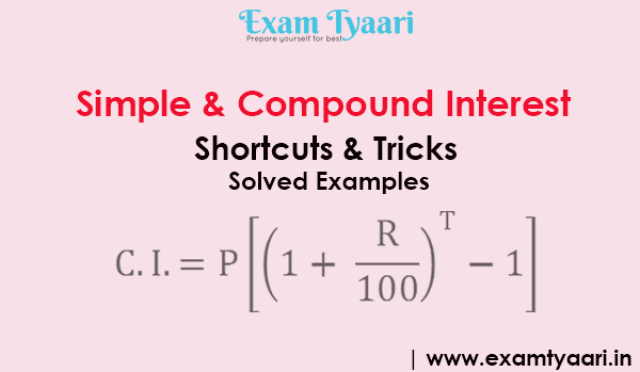 Simple & Compound Interest Concept Notes and Solved Examples - [PDF Download] - Exam Tyaari
