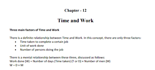 Free-Book: Time & Work by Quantitative Aptitude Made Easy [PDF]