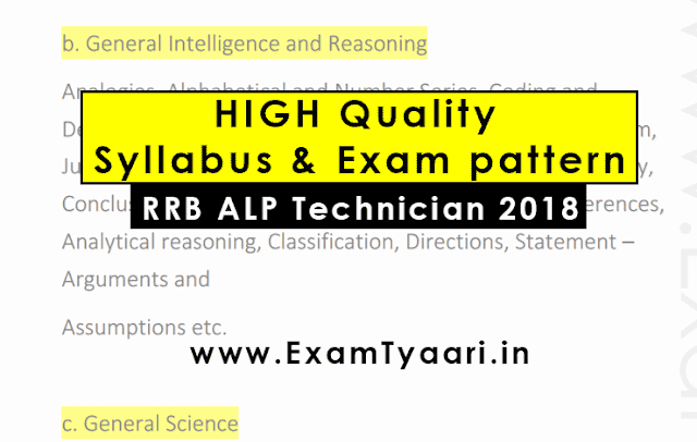 RRB ALP Technician Syllabus and Exam Pattern [ Download PDF] - Exam Tyaari