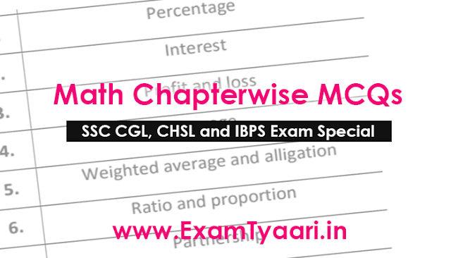 Math MCQ Question Bank for SSC and IBPS Exams [PDF] • Exam