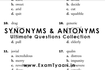 English Study Material For Competitive Exams • Exam Tyaari