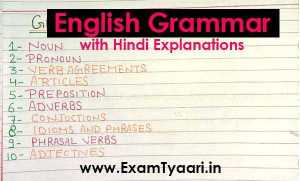 Download English Grammar PDF in Hindi - Exam Tyaari