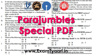Download Parajumbles PDF IBPS SBI PO - Exam Tyaari