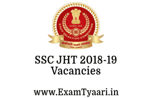 SSC JHT 2019 - Exam Tyaari