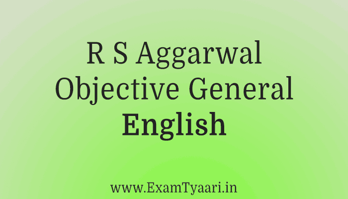 Download Objective General English PDF By R.S Aggarwal