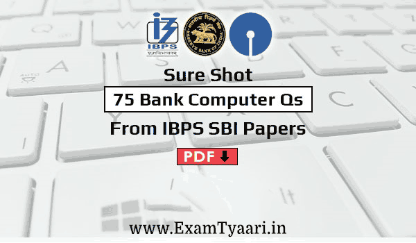 computer questions for sbi ibps pdf