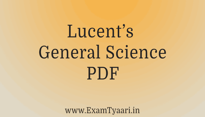 Free-Book: Download Lucent General Science 2019 [PDF] • Exam