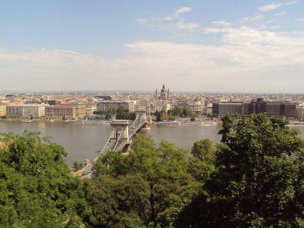 Panoramica di Budapest dalla collina
