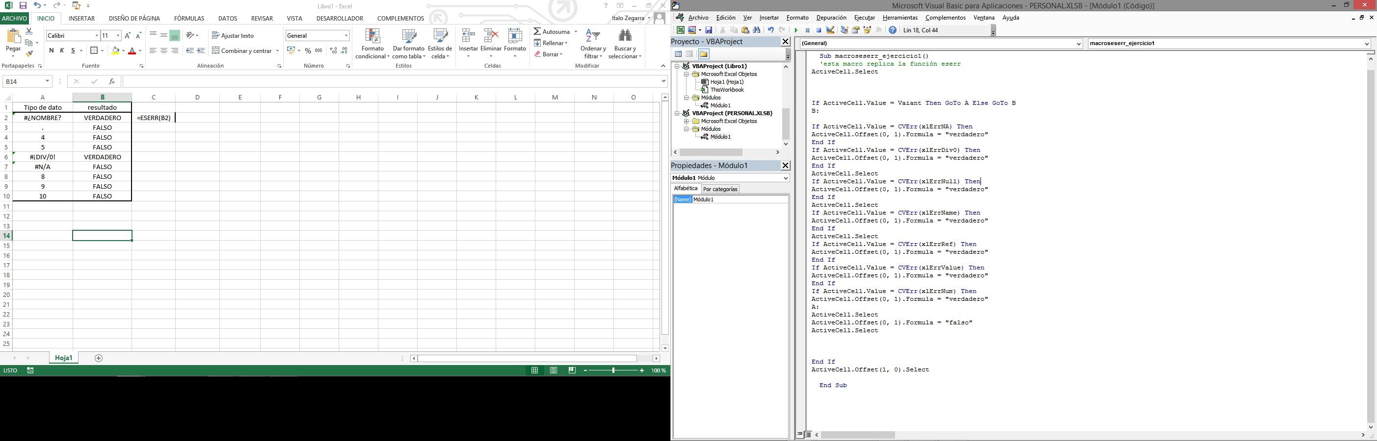 Funcion Eserr Excel Avanzado