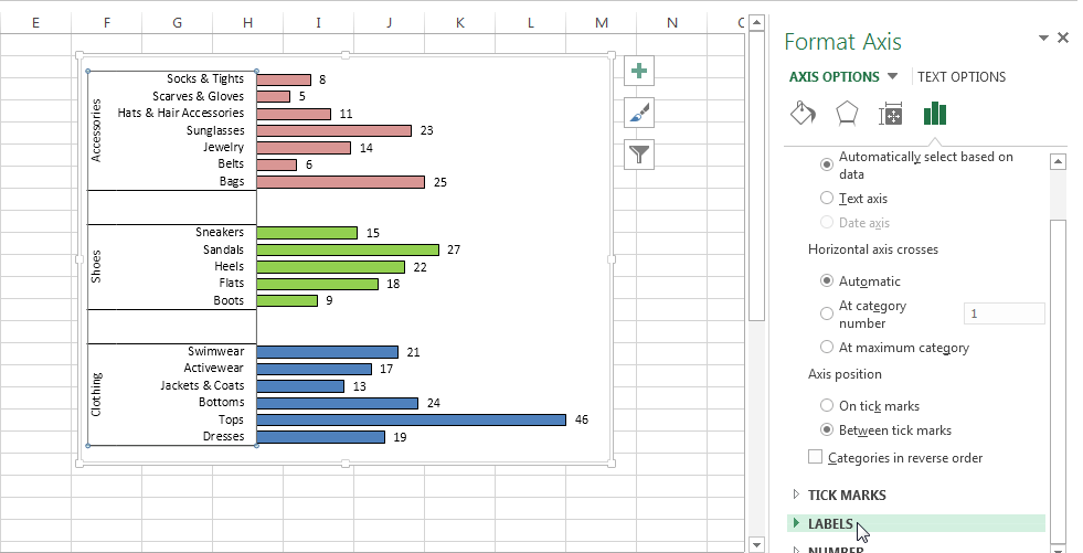 how to create multi-category chart in excel