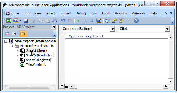 Excel Vba Workbook And Worksheet Object