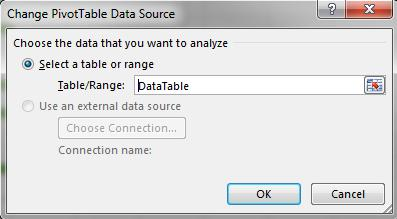 Change Data Source