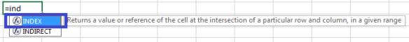 Excel Intellisense