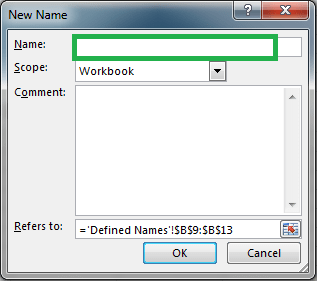 Defined Name: New Name
