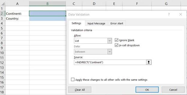 Indirekt Formel Excel