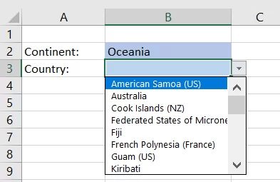 Dynamisches Dropdown Excel