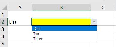 Datenvalidierung in Excel