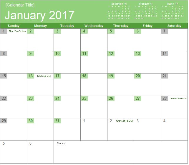 Monthly Calendar  Excel Templates For Every Purpose