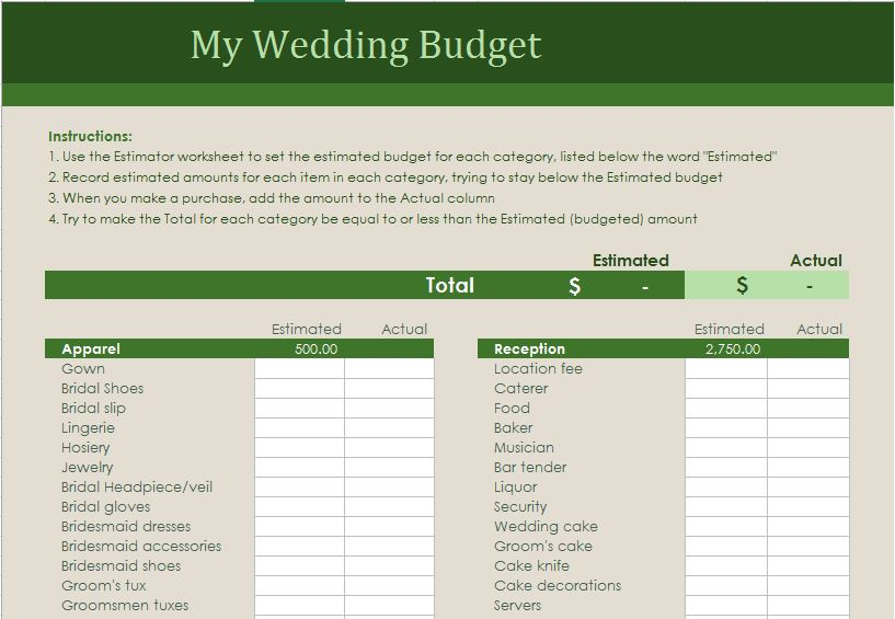Wedding budget planner excel templates for every purpose have a peek at screenshots from the wedding budget planner excel template junglespirit Image collections