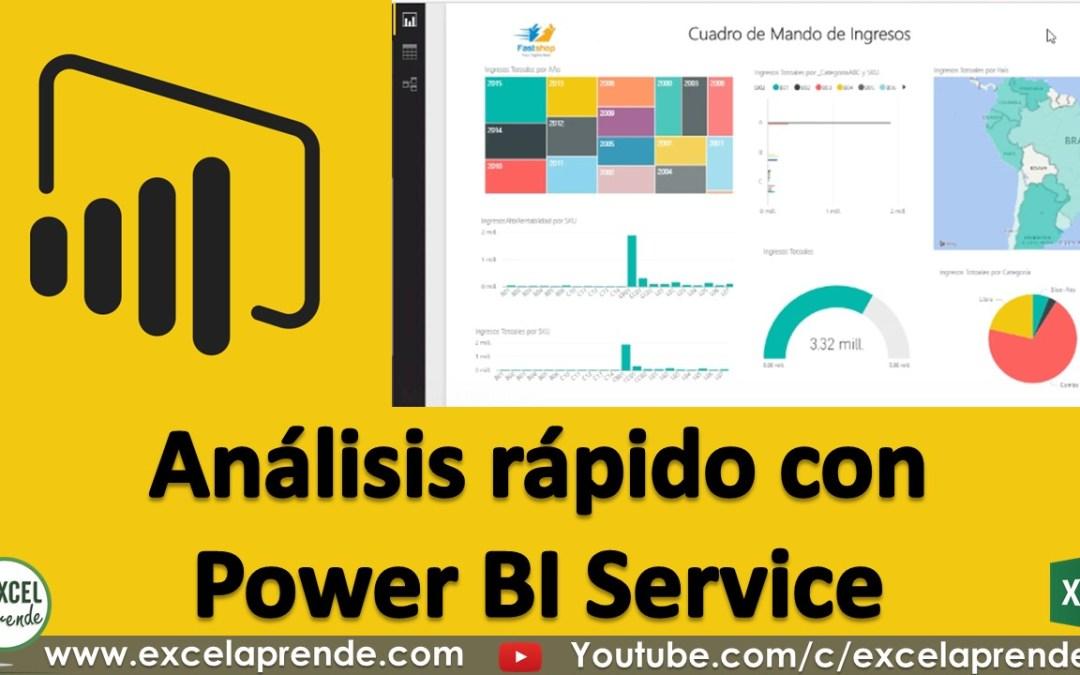 Análisis rápido con Power BI Service | Excel Aprende