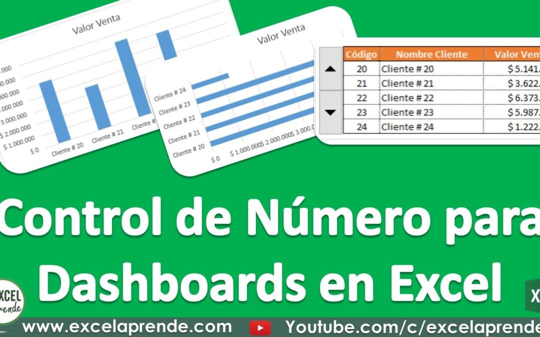 Control de Número para Dashboards en Excel | Excel Aprende