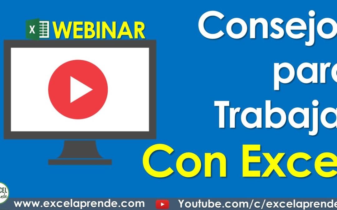 Consejos para Trabajar con Excel | Excel Aprende