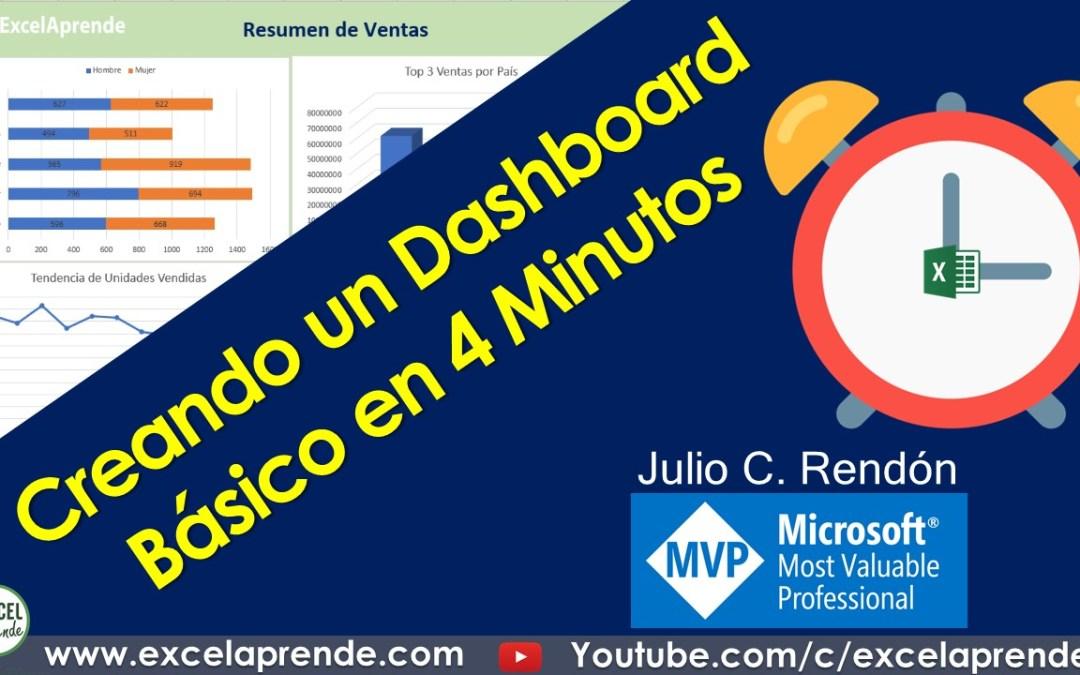 Creando un Dashboard Básico en 4 Minutos | Excel Aprende