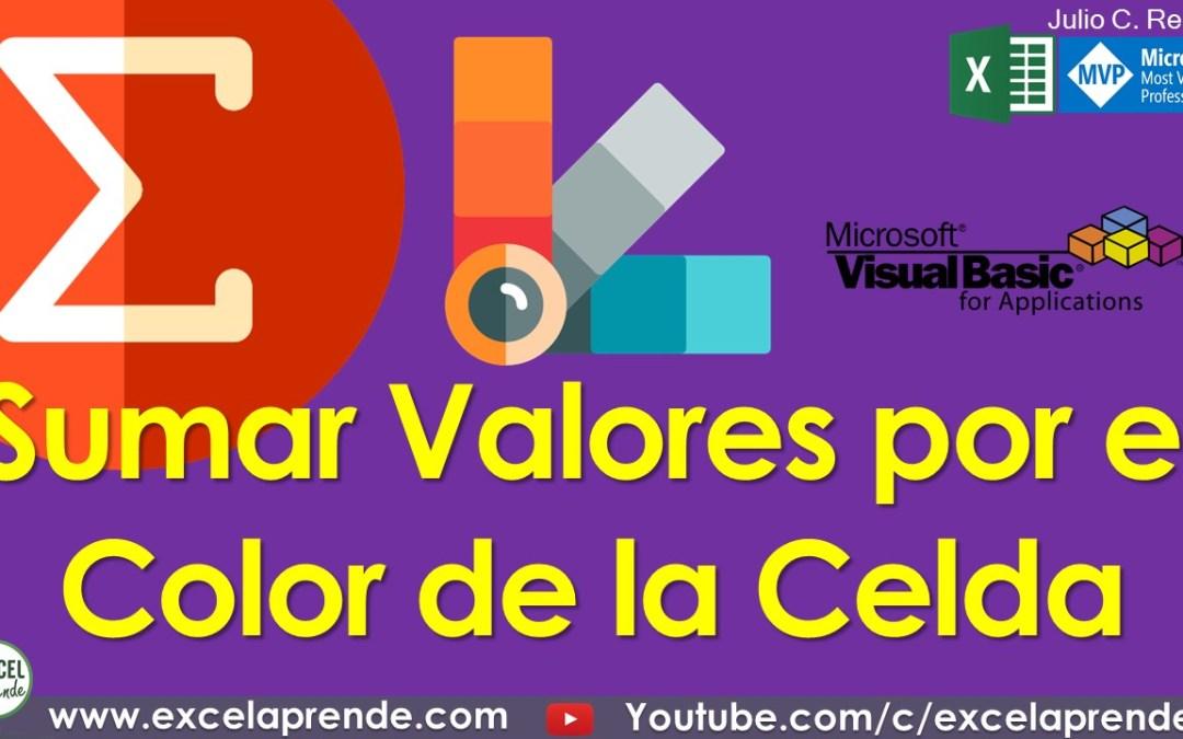 Sumar Valores por el Color de la Celda | Excel Aprende