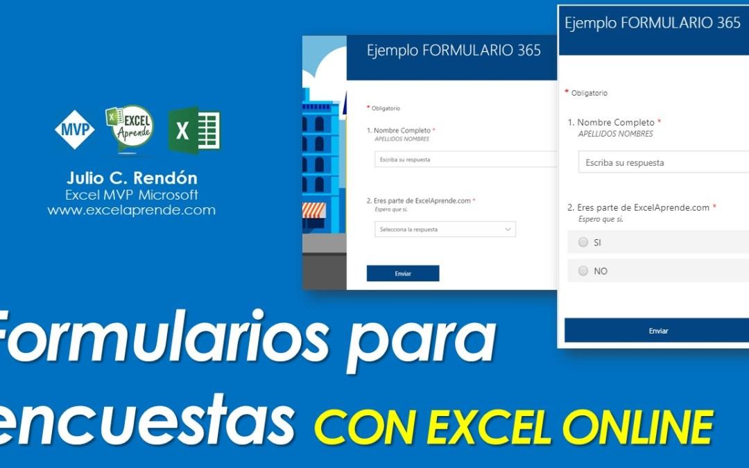 ⏰ Formularios para encuestas CON EXCEL ONLINE 📈 | Excel Aprende