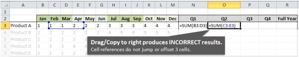 Quarter Formulas Incorrect with Drag Right