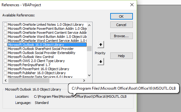 Add or remove Object Library Reference via VBA | EXCELCISE